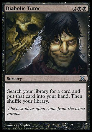 Diabolic Tutor, 10th Edition
