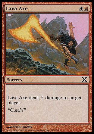 Lava Axe, 10th Edition