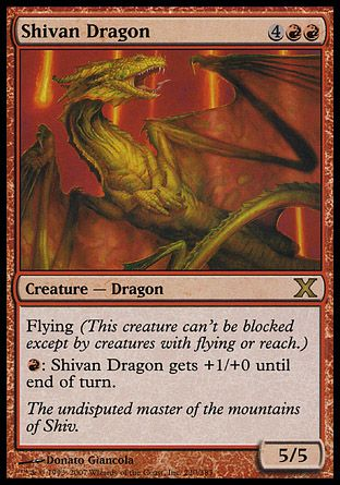 Shivan Dragon, 10th Edition