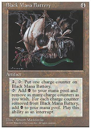Black Mana Battery, 4th Edition