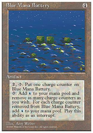 Blue Mana Battery, 4th Edition