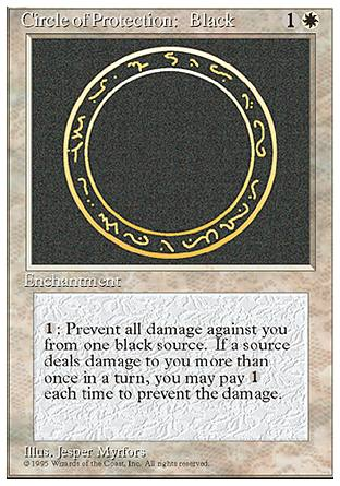 Circle of Protection: Black, 4th Edition