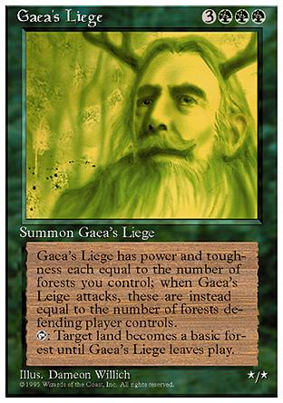 Gaea's Liege, 4th Edition