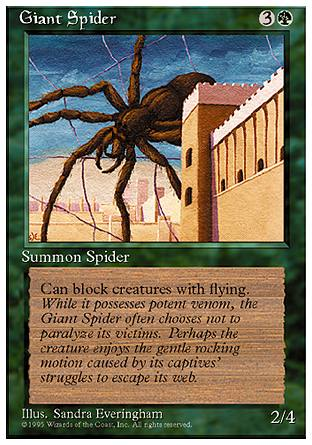 Giant Spider, 4th Edition