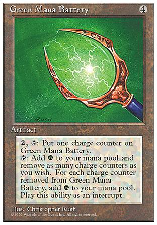 Green Mana Battery, 4th Edition