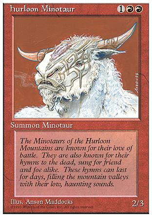 Hurloon Minotaur, 4th Edition