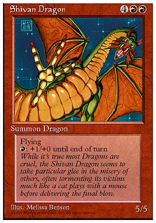 Shivan Dragon, 4th Edition