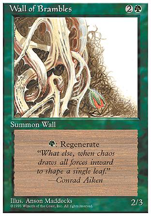 Wall of Brambles, 4th Edition