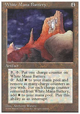 White Mana Battery, 4th Edition