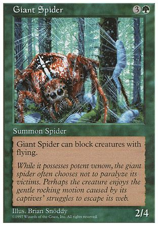 Giant Spider, 5th Edition