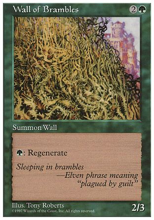 Wall of Brambles, 5th Edition