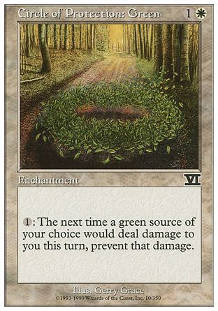 Circle of Protection: Green, 6th Edition