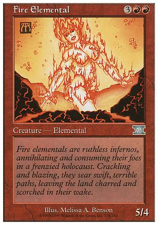 Fire Elemental, 6th Edition