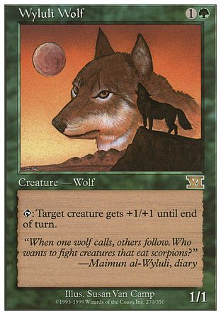 Wyluli Wolf, 6th Edition