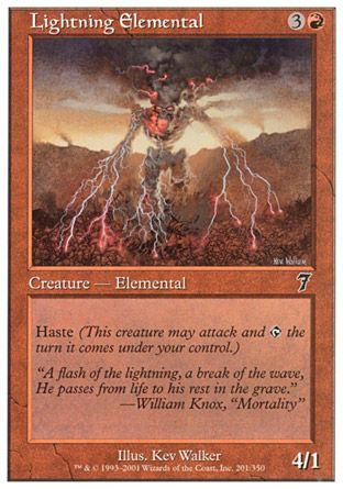 Lightning Elemental, 7th Edition