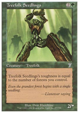 Treefolk Seedlings, 7th Edition
