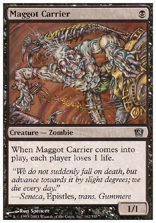 Maggot Carrier, 8th Edition
