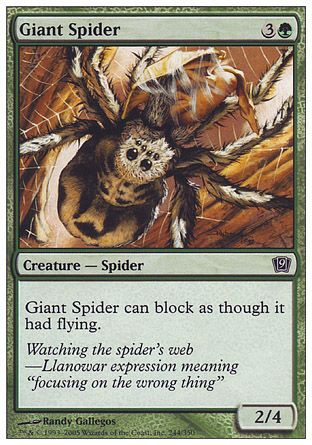 Giant Spider, 9th Edition