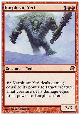 Karplusan Yeti, 9th Edition