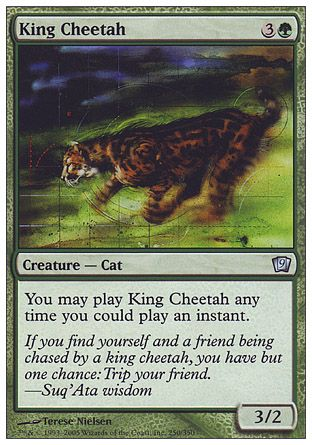 King Cheetah, 9th Edition
