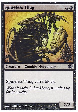 Spineless Thug, 9th Edition