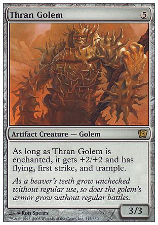 Thran Golem, 9th Edition