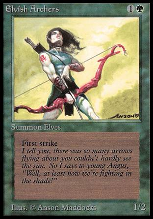 Elvish Archers, Alpha