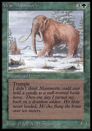 War Mammoth, Alpha