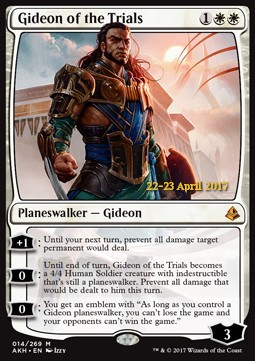 Gideon of the Trials, Amonkhet Promos