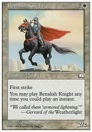 Benalish Knight, Anthologies