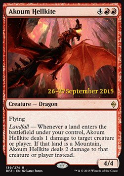 Akoum Hellkite, Battle for Zendikar Promos