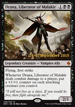 Drana, Liberator of Malakir, Battle for Zendikar: Promos
