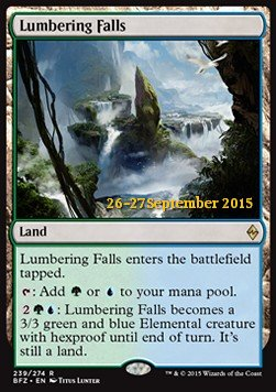 Lumbering Falls, Battle for Zendikar Promos