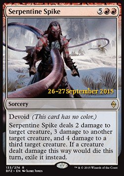 Serpentine Spike, Battle for Zendikar Promos