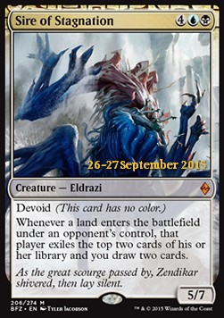 Sire of Stagnation, Battle for Zendikar Promos