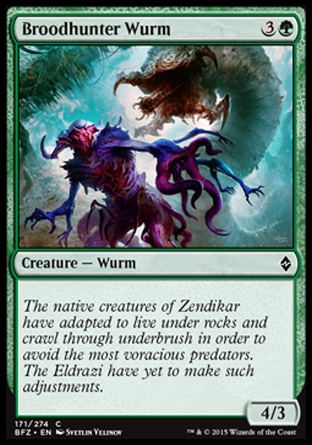 Broodhunter Wurm, Battle for Zendikar