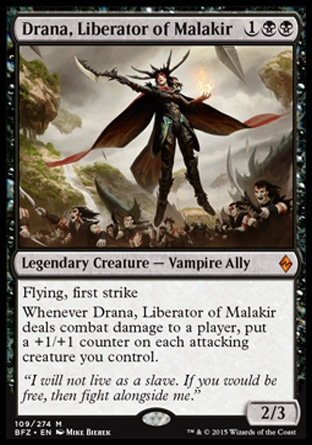 Drana, Liberator of Malakir, Battle for Zendikar