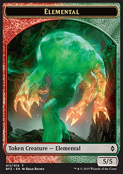 Elemental Token, Battle for Zendikar