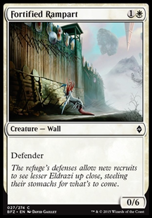 Fortified Rampart, Battle for Zendikar