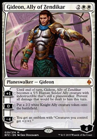 Gideon, Ally of Zendikar, Battle for Zendikar
