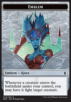 Kiora, Master of the Depths Emblem, Battle for Zendikar