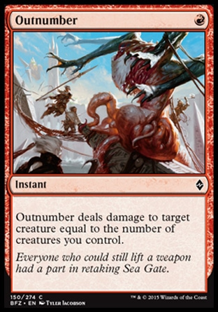 Outnumber, Battle for Zendikar