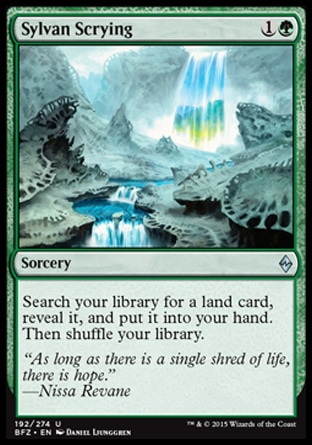 Sylvan Scrying, Battle for Zendikar