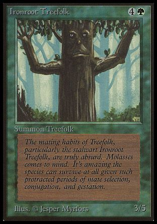 Ironroot Treefolk, Beta