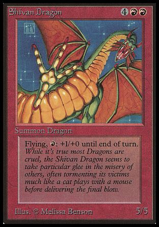Shivan Dragon, Beta