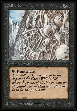 Wall of Bone, Beta