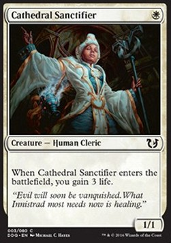 Cathedral Sanctifier, Blessed vs Cursed