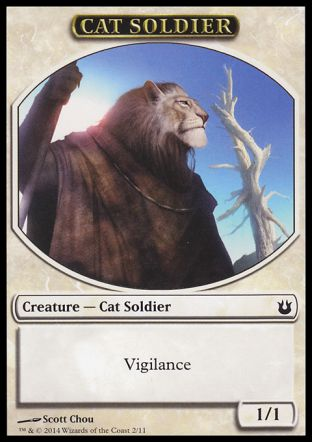 Cat Soldier token, Born of the Gods