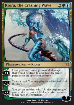 Kiora, the Crashing Wave, Born of the Gods