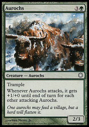 Aurochs, Coldsnap Theme Decks